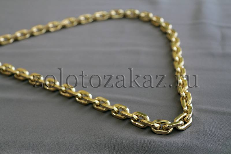 Браслеты золотые мужские якорного плетения
