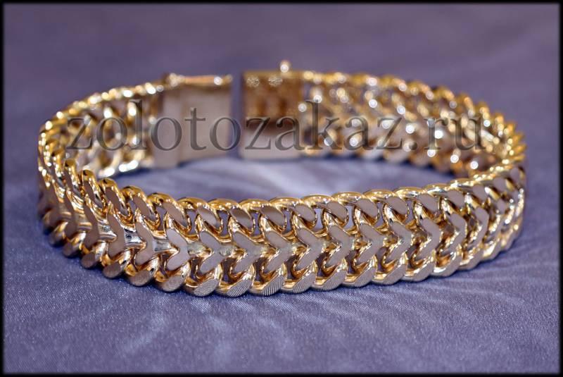 Плетение мужских браслетов из золота